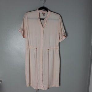 Blush pink knee-length dress